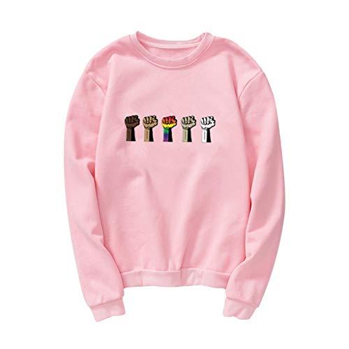 Damen O-Ausschnitt Sweatshirts Tops Star Drucken Pullvoer Langarmhemd