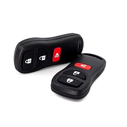 New Keyless Entry Remote Key Fob Clicker Transmitter for Nissan Frontier Armada Murano Pathfinder Quest Sentra Titan Versa Xterra/Infiniti QX4 FX35 FX45 KBRASTU15,by AUTOKEYMAX (PAIR)