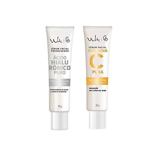 Kit Vult - Sérum Facial Ácido Hialurônico e Sérum Facial Vitamina C - 026