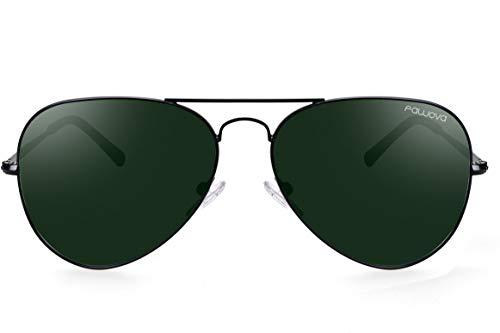 Fawova Gafas Aviador Hombre Polarizadas Lente Verde