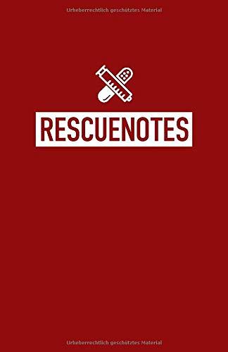 RESCUENOTES: Notizheft für Rettungskräfte   Notizbuch für Rettungskräfte   Kariert   Praktisch für die Arbeitskleidung