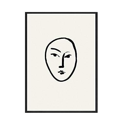 Arte abstracto de Matisse, cartel minimalista, estilo moderno de hoja, lienzo, arte de pared, pintura familiar, lienzo sin marco, pintura A10 30x45cm