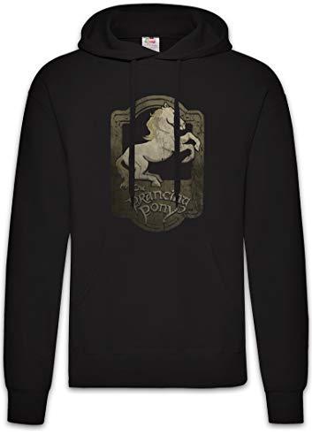 Urban Backwoods Prancing Pony Hoodie Sudadera con Capucha Sweatshirt Negro Talla XL
