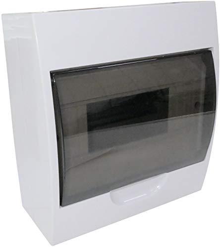 AERZETIX - Cuadro Eléctrico - Cuadro de Distribución/Modular - 200x118.50x90mm - De pared - Soporte - Fijación - 8 Módulos - IP40 - C44888