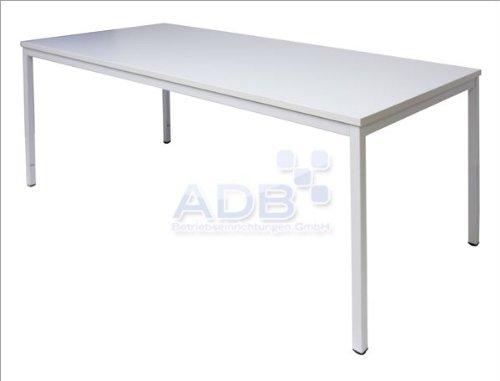 ADB Konferenztisch / Universaltisch / Schreibtisch 160x80x76 cm, Lichtgrau, Besprechungstisch Bürotisch Verkaufstisch