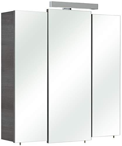 Pelipal 352 Bonn Spiegelschrank Livorno I, Holzdekor, Graphit Struktur, 20,0 x 68,0 x 73,0 cm