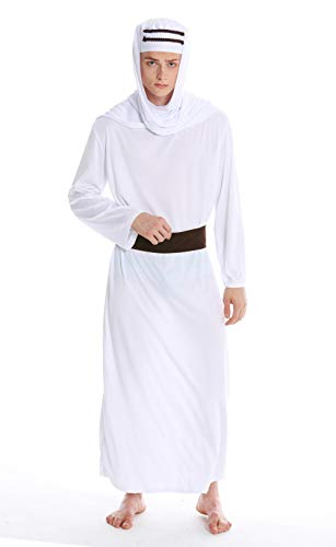 dressmeup Dress Me UP- M-0154-S Costume Uomo Carnevale Halloween Sceicco Arabo Lawrence d'Arabia Sindbad Califfo S/M