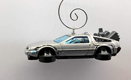 Delorean Flying Back to The Future Car Custom Christmas Ornament