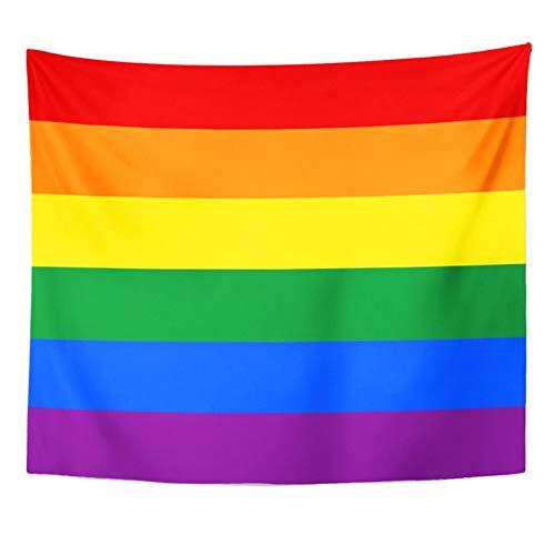 N/A Tapisserie Homosexuell LGBT Stolz In Regenbogen Paar Transgender Aromantic Home Decor Tapisserie Wandbehang Für Wohnzimmer Schlafzimmer Wohnheim Home Geschenk 52X60 Inches