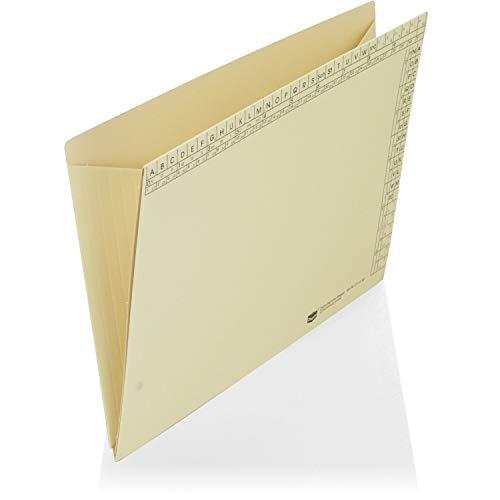 Classei Orga-Dehn Sammel-Mappen Material: Natronkarton 400 g/qm; Farbe: hellgelb, in 6 Stufen erweiterbar, VE: 1, auch als Dokumentenmappe verwendbar