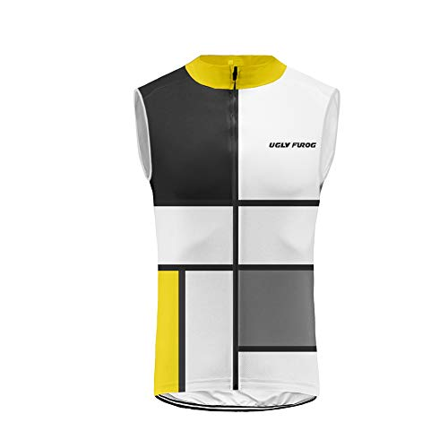 BurningBikewear Uglyfrog Ciclismo Maillots Sin Mangas Traje Ciclista Verano/Primavera Transpirable Cómodo Chalecos Cycling Vest MES2019MJ05