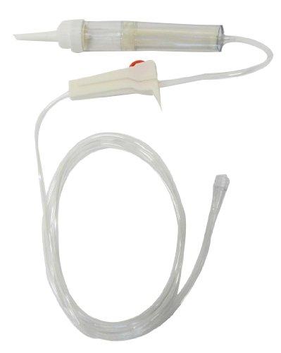 Transfusionsgerät Transfusionsgeräte Tiga-Plus 200my 10er Set (= 10 Stück) einzeln steril mit 150cm Schlauch + Rollenklemme ohne Belüftung Transfusionssystem zertifizierte Klinikqualität