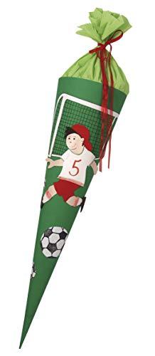 Rayher 7134600 Bastelset, für Schultüten Verzierung, Fußball Motiv zum Selber Basteln für eckige und runde Rohlinge