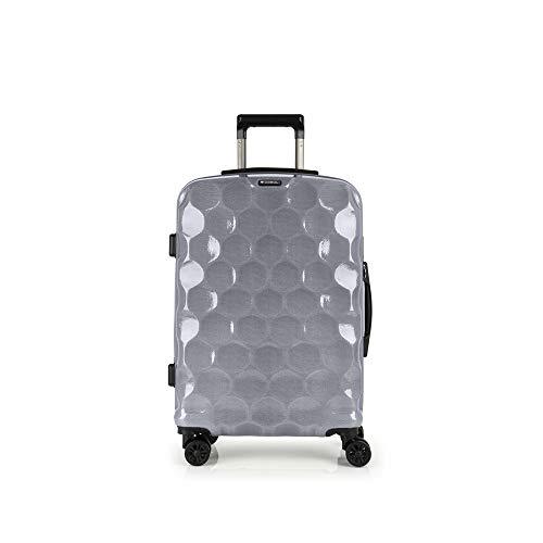 Gabol - Air   Maletas de Viaje Medianas Rigidas de 44 x 65 x 24 cm con Capacidad para 54 L de Color Plata