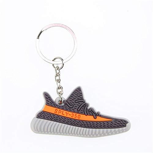 Zapatos De Silicona Mini Llavero del Encanto del Bolso Mujer Hombre Niños Anillo Dominante De La Zapatilla De Deporte Holder Regalo Llavero (Color : E)