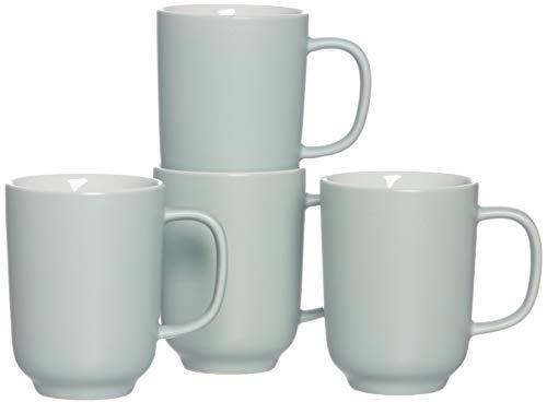 Ritzenhoff & Breker Kaffeebecher-Set Jasper, 4-teilig, je 320 ml, Mint-Grün, Steinzeug