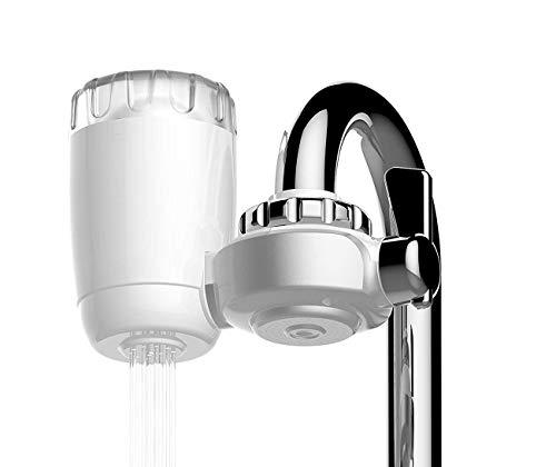 Gutsbox Wasser Filtersystem, Prämie Wasserfilter Wasserhahn Tischwasserfilter mit Keramik Filterkartuschen Küchenzubehör für Gesunder Lebensstil