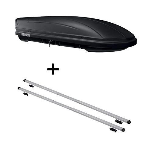 VDP Dachbox MAA 400 Liter matt + Dachträger Rapid kompatibel mit Nissan Qashqai (J11) (5Türer) ab 14