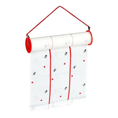 genialo Maxi-Fliegenfalle, Fliegen-Klebefalle, Klebrige Insektenfallen, Fenster, Fliegenfänger, Wohnzimmerfenster, Küchenfenster, Kunststoff, Papier, 10 m x 6 x 25 cm