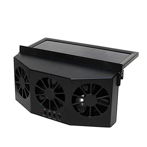 Ventilatore di scarico del calore di scarico dell auto solare, Ventilatore dell auto ad energia solare, Ventilatore dell aria del finestrino dell auto ad energia solare (Black)