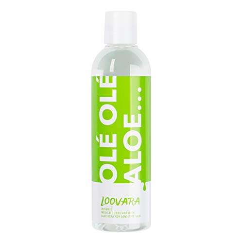 Gel Lubrificante Sessuale a Base Acqua - con Aloe Vera x Pelli Sensibili | Per Sesso Anale, Vaginale, Orale | Commestibile | Insapore | x Donna e Uomo | 100% Naturale | OleOleAloe By Loovara | 250ml