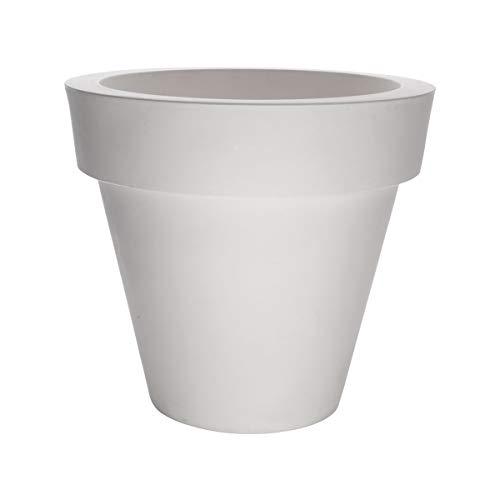 Serralunga Vas One - Vaso da fiori M, 130 x 120 cm, in plastica, colore: Bianco