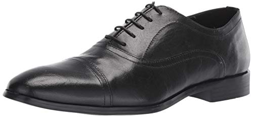 Steve Madden Men's OFFISIR Oxford, Black Leather, 12 M US