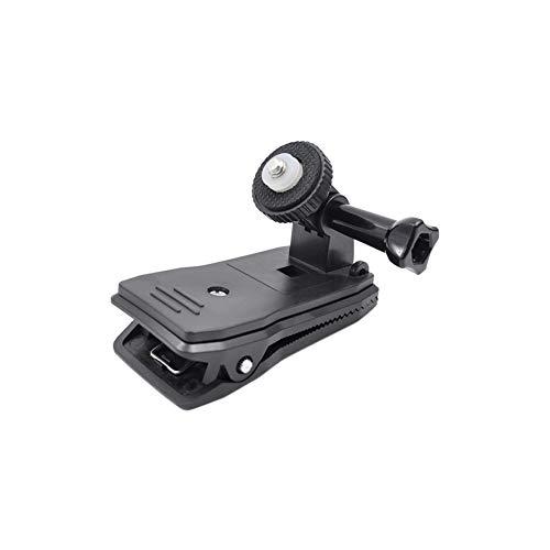 Meijunter Sac à Dos Pince Polyvalente Caméra d'action Clip pour Insta360 One X/Evo - 360 Degrés Rotatif Trou de Vis Standard de 1/4\