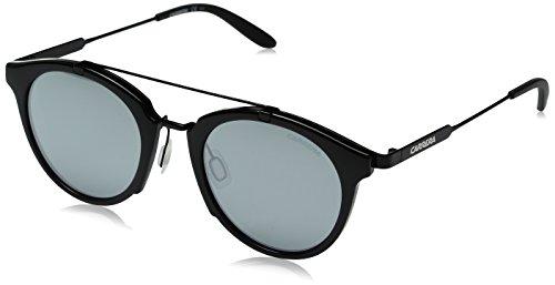 Carrera Men's CA126/S Round Sunglasses, Shiny Black Gold/black Mirror, 49 mm