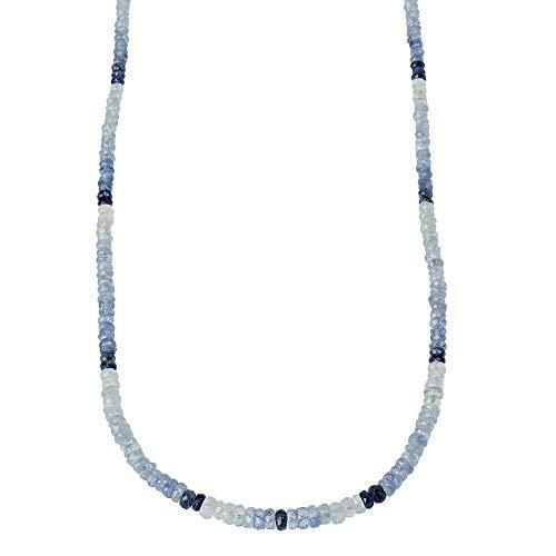 Harry Ivens Damen Kette Edelstein aus Silber 925 mit Saphir blau im Farbverlauf 45cm
