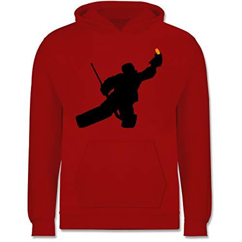 Sport Kind - Towart Eishockey Eishockeytorwart - 128 (7/8 Jahre) - Rot - Kinder Torwart Trikot - JH001K - Kinder Hoodie