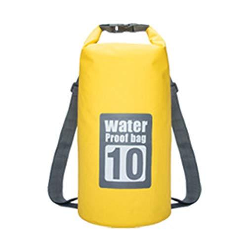 aixu Bolsa De Natación Impermeable Al Aire Libre Swim Dry Mochila Bolsa De Viaje De Almacenamiento Plegable Amarillo 10L