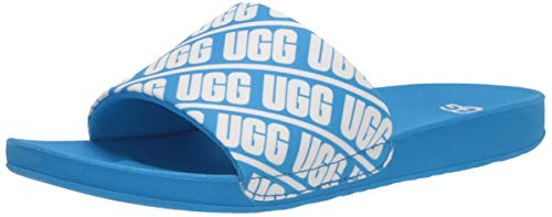 UGG Kids' Beach Slide UGG Sandal, Blue Aster, 2