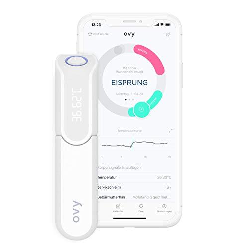 Ovy® Bluetooth Basalthermometer zur Zykluskontrolle | Mit App (iOS & Android) | Kinderwunsch, Zykluskontrolle oder hormonfreies Leben