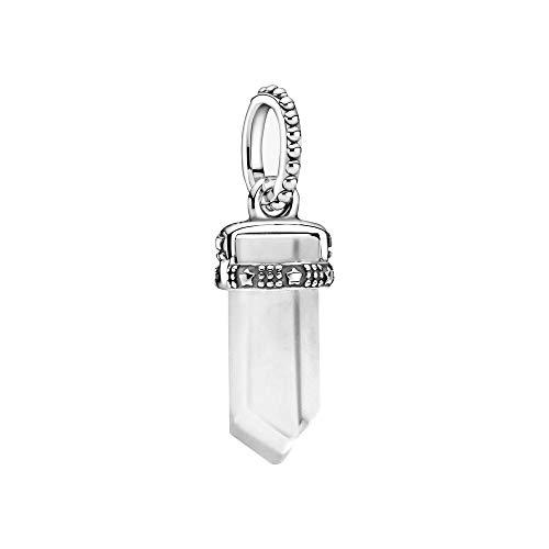 Pandora Colours Weißer Amulett Anhänger aus Sterling Silber/Größe: 1,75cm