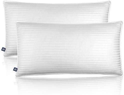 Bare Home Luxury Plush Down Alternative Pillows Fiber Fill Hypoallergenic Striped Soft 100 Cotton product image