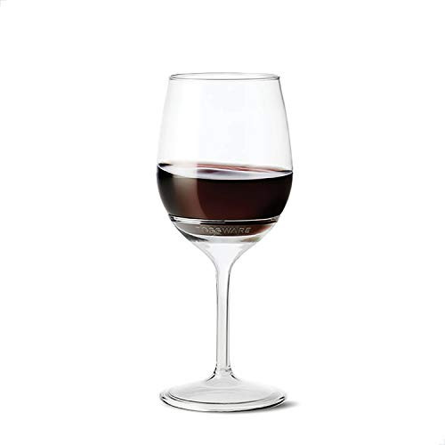 TOSSWARE POP 14oz Stemmed Vino SET OF 12, Recyclable, Unbreakable & Crystal Clear Plastic Wine Glasses