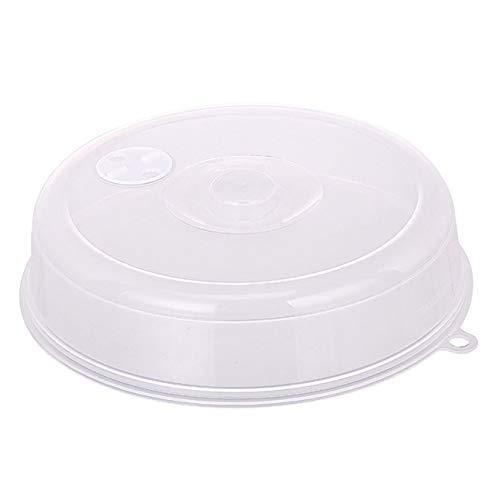 Ballylelly Tapa grande para salpicaduras de microondas Tapa con respiraderos de vapor Tapa de plato universal para mantenimiento fresco Tapa de disco de sellado apilable