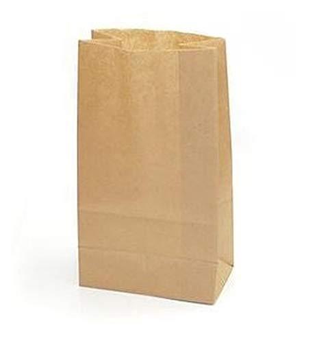 Yearol K02 50 bolsas papel kraft marrón. 28*18*11 Para bocadillos, sandwich, merienda, palomitas, croissant, churros, chuches, regalo, alimentos, panadería, bollería, manualidades, cumpleaños, fiestas