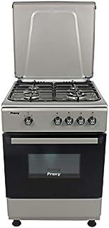Cocina 60 cm de ancho con horno PROXY, color silver, 4 fuegos (incluye 1 Triple Fuego) y horno con grill a gas (butano o natural).