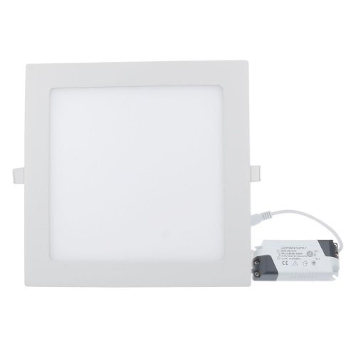 Lemonbest 18 Watt LED Panel Light, Square Recessed Lighting Fixture Kit, Warm White