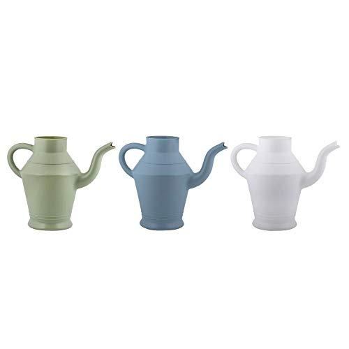 Esschert Design Gießkanne Teekanne im Vintage Design, Größe S, farbig sortiert, grün/blau/weiß, 28,5 x 14,5 x H21,6 cm, Gartengießkanne,