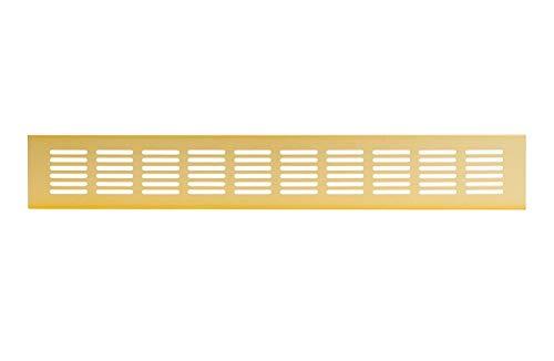 60x500mm Aluminium Lüftungsgitter Gold Stegblech Lüftung Alu-Gitter Gitter Möbelgitter Möbellüftung