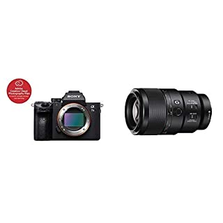 """Sony a7 III Full-Frame Mirrorless Interchangeable-Lens Camera Optical with 3"""" LCD, Black (ILCE7M3/B) - ICLE7M3/B with Sony SEL90M28G FE 90 mm f/2.8-22 Macro G OSS Standard-Prime Lens (B07PX7RQJ6) 