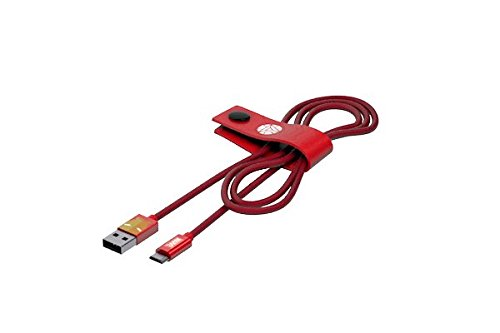 Tribe Marvel - Cable Micro USB para Android, Samsung, HTC, Nokia, Sony (1.2 m) diseño Iron Man