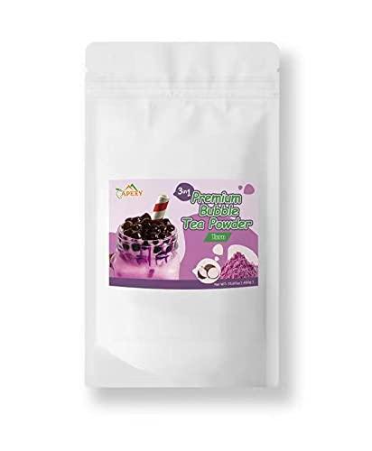 Apexy Premium Bubble Tea Powder Mix, 15.87 oz, Taro Bubble Tea, Instant 3 in 1 Bubble Tea Mix, Smoothie Mix, For Hot or Cold Drinks, Made in Taiwan (Taro)