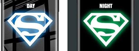 (XR-Superman) AMAZEN Cool Glow Luminous Rubber Grip Case Compatible with iPhone XR