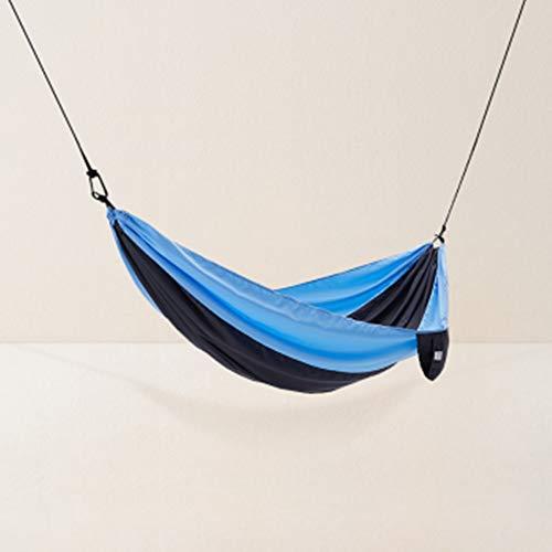 MAATCHH Jardín Hamaca de Camping Al Aire Libre Individual Doble Camping paracaídas Hamaca portátil al Aire Libre Viaje de Senderismo compartida Cubierta Portátil para al Aire Montañismo Viajes