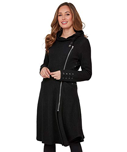 Joe Browns Boiled Wool Jacket Jacke Damen, Schwarz (Black A), 44 EU (Herstellergröße: 18)