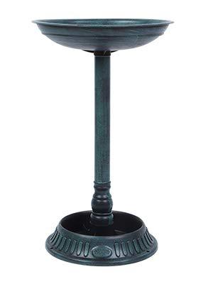 Greensen Uccelli Fontana-abbeveratoio, per Uccelli e Piccoli Animali del Giardino Vasca da Bagno per Uccelli da giardin da Bagno Ornamentale Piedistallo Decorazione Vintage, 39 × 39 × 64 cm